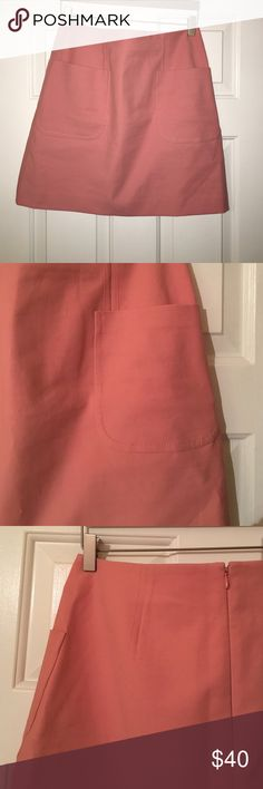 High waisted Pink Pocket Mini Gently worn, good condition. Runs a little big LOFT Skirts Mini
