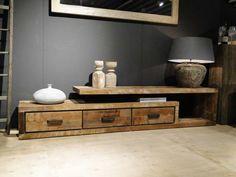 TV-meubel oud hout Orvault  | robuustetafels.nl