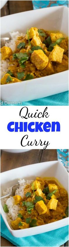 Quick Chicken Curry Recipe - an easy Indian chicken curry you can make in minutes, even on your busiest night!#food #recipe #chickencurry #currychicken #chickenrecipe #dinner #quickandeasy #indianfood #eating