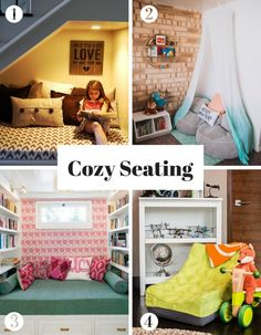 How to Create a Cozy Reading Nook for Kids – Family Room İdeas 2020 Playroom Wall Decor, Playroom Design, Playroom Ideas, Toddler Reading Nooks, Cool Kids Rooms, Kids Room Organization, Toddler Rooms, Kids Seating, Kid Spaces