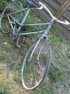 Rare ancien vélo caminade caminargent en aluminium tubes hexagonaux old bike