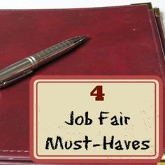 4 Job Fair Must-Haves #Jobfair #Jobsearch #Tips /Earning and Saving with Sarah Fuller