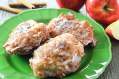 Glazed Apple Fritters - Simply Home Cooked Apple Fritter Recipes, Apple Recipes, Sweet Recipes, Bakery Recipes, Cooking Recipes, Healthy Recipes, Breakfast Recipes, Dessert Recipes, Desserts
