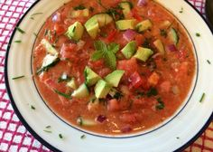 Watermelon is rich in electrolytes and vitamin C. Try it in this Reboot-friendly watermelon gazpacho recipe.
