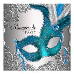 masquerade party ideas | Masquerade Party invites - fully customisable
