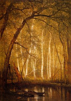 Worthington Whittredge 'The Old Hunting Grounds ' 1864, oil on canvas. Saw this…