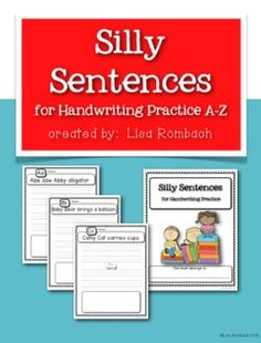 Silly Sentences for Handwriting Practice Aa-Zz (new and improved version) $