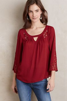 Teni Blouse #anthropologie. I am going to look for this blouse soon. I like the color