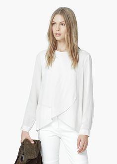 Blusa cruzada - Camisas de Mujer | MANGO