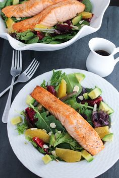 Bites of Bri | Winter Citrus Salmon Salad | http://bitesofbri.com