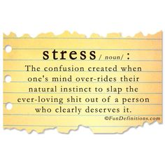 Stressed out!!!!!!  oh yes!  i can relate.