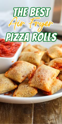 Air Fryer Pizza rolls are a popular party snack, college student dinner, after-school snack. Making them in the air fryer means hot insides with a crispy crust that everyone will love! #airfryer #pizzarolls #airfryerpizzarolls #totinos #snack #pizzasnack #maindish #afterschoolsnack #gamedaysnack #howtoairfry #quicksnack #easysnack #numstheword #recipe Best Lunch Recipes, Air Fry Recipes, Air Fryer Recipes Easy, Easy Appetizer Recipes, Yummy Appetizers, Snack Recipes, Tailgating Recipes, Amazing Recipes, Delicious Recipes
