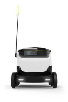 Self driving car, plastic, white, black, gloss