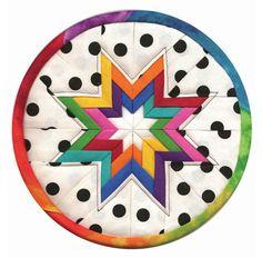 Folded star hot pad pattern.