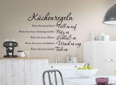 Details zu Wandtattoo Küchenregeln Wandaufkleber Wandbild ...
