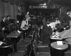 Interior of the Blackhawk, January 1961. San Francisco Jazz Club.