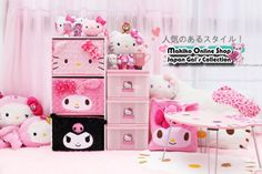 JAPAN KAWAII MELODY rose velvet collapsible storage box_Accessories_★ Makiko Online Shop ☆ Japan Gal's Collection ★