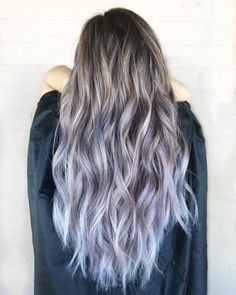 Hottest Silver Purple Hair Colors of 2019 Icy Opal BalayageIcy Opal Balayage Silver Purple Hair, Dark Blue Hair, Ash Brown Hair, Hair Color Purple, Hair Colors, Silver Lavender Hair, Purple Colors, Balayage Hair Grey, Balayage Hair Caramel