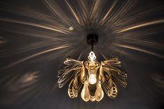 Moderne Lampe Einzigartiges Design  STEEL PETALS von  Archerlamps  auf DaWanda.com