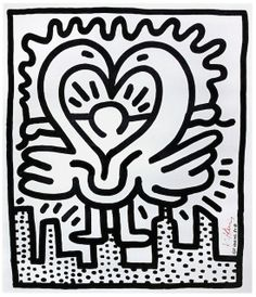 """Skot Foreman Gallery Keith  Haring  """"Kutztown Connection"""" 1984 Hand-signed lithograph    21.5 x 18.5 in  56 x 48 cm Edition News Arts Program, pub Hand-signed """"K. Haring"""" in red pen lower right #skotforeman #skotforemanfineart #artist #artcurators #gallery #art #fineart #keithharing #popart #sreetart #andywarhol #basquiat"""
