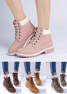 fc90e4aea0ba8 Candy Color Lace Up Ankle Casual British Style Boots is hot-sale. Come to  NewChic to buy womens boots online.
