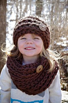 The Chunky Monkey Beanie and Cowl Set PDF can be   purchase in my Ravelry Store   Materials:    Hook size: Q   Yarn: Lion Brand Homet...