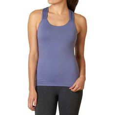 prAna Phoebe Tank Top - Built-In Bra, Racerback (For Women) in Purple Fog - Closeouts Yoga Muscles, Muscle Tank Tops, Yoga Shorts, Yoga Tops, Yoga Wear, Spa Day, Basic Tank Top, Celebrities, How To Wear