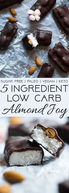 low carb almond joy bars