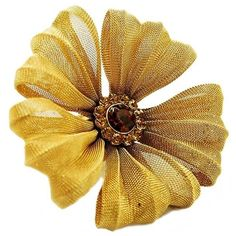 Catianna's Gold Mesh Daisy Ring - Final Sale ($17) ❤ liked on Polyvore