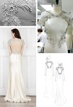 Sketch to Sample: Meet Abigail, the newest addition to the #CatherineDeane #bridal collection | #weddingdress #embellishment
