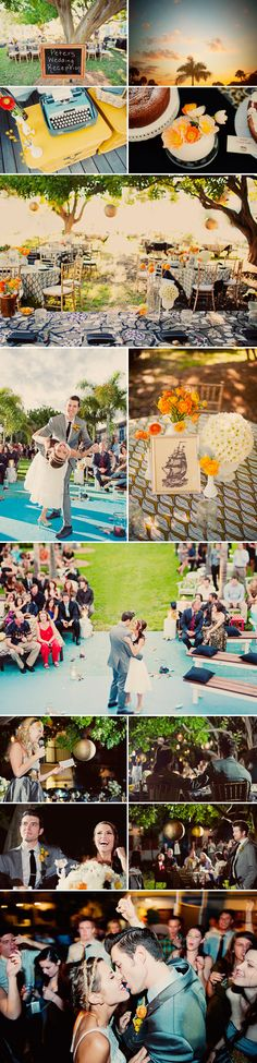 mid-contury modern and music inspired real wedding in St. Petersburg, Florida, photos by Our Labor of Love