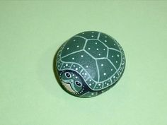 SPOTTED TURTLE, hand painted rocks, SPRING garden...
