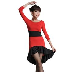 Crewneck 3/4 Sleeve Stretchy High-Low Fishtail Hem Latin Tango Dance Dress Eyekepper http://www.amazon.co.uk/dp/B00GGBM5NW/ref=cm_sw_r_pi_dp_LjLrvb1JZZ0CF
