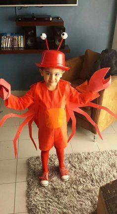 Crab costume Disfraz de cangrejo DIY