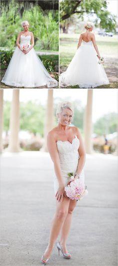 Wedding Dress Transformations  #LaubergeDelMarWeddings #weddingtrends   transforming wedding dress #weddinggown #transformingdress #weddingchicks http://www.weddingchicks.com/2014/04/11/pink-party-wedding/