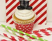 Santa Boot Cupcake Toppers