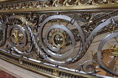 Vestibule d'honneur - la rambarde - détail