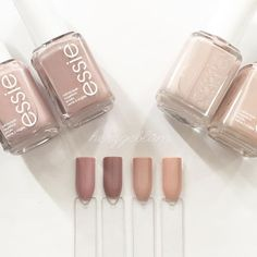 essie go go geisha  lady like  topless & barefoot  spin the bottle