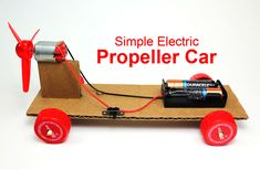 Learn how to make a simple electric propeller car using basic parts and some creativity. This project is great for a makerspace, STEM or science fair project. DC motor, battery and switch. Looking For More Visit The Below Site Kids Science Fair Projects, Engineering Projects, Science For Kids, Engineering Humor, Winning Science Fair Projects, Engineering Notes, Robotics Projects, Industrial Engineering, Environmental Engineering