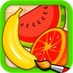 果物と野菜 : 子供のためのパズルとカラー : Games for Kids