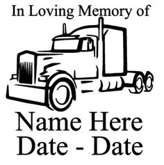 Hey, I found this really awesome Etsy listing at https://www.etsy.com/listing/265027133/in-loving-memory-of-car-decal-with-truck