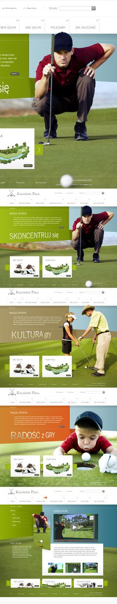 : Website layout for a golf course by Piotr Adamski, via Behance