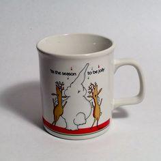 A personal favorite from my Etsy shop https://www.etsy.com/listing/495423151/vintage-christmas-elephant-reindeer-mug