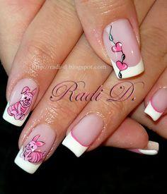 It`s all about nails: Piglet #nail #nails #nailart