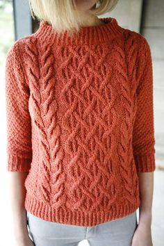 Free pattern. Fisherman sweater