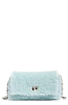 Miu Miu Small Genuine Shearling Shoulder Bag