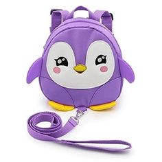 Discounted Hipiwe Baby Toddler Walking Safety Backpack Little Kid Boys Girls Anti-lost Travel Bag Harness Reins Cute Cartoon Penguin Mini Backpacks with Safety Leash for Baby Years Old (Pink) Little Girl Backpack, Toddler Backpack, Mini Backpack, Cute Backpacks, Girl Backpacks, Baby Harness, Cute Toddlers, Cute Little Girls, Bags