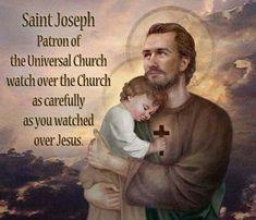Religion Catolica, Catholic Religion, Catholic Quotes, Catholic Art, Catholic Saints, Roman Catholic, St Joseph Prayer, St Joseph Catholic, Saint Joseph