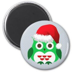 Christmas Owl Trend Refrigerator Magnets. See more of our cute magnets, funny magnets and funny saying firdge magnets here: http://www.zazzle.com/ironydesign/buttons?dp=252254553165908169&rf=238222968750191371&tc=pinterest