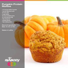 Yummy Pumpkin Protein muffins.... no guilt here
